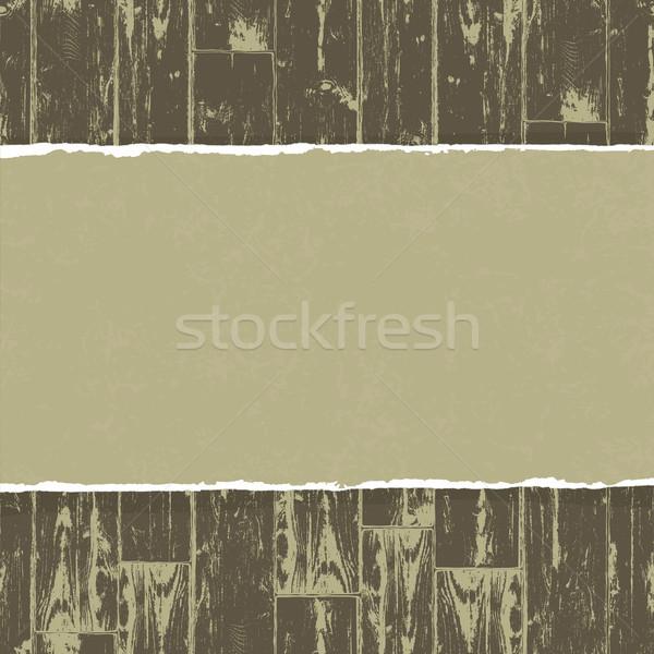 рваной бумаги вектора eps10 бумаги древесины Сток-фото © pashabo