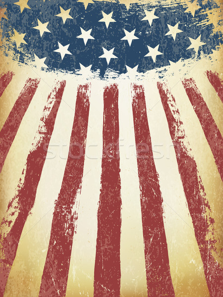 Grunge American Flag vector sablon abstract Imagine de stoc © pashabo