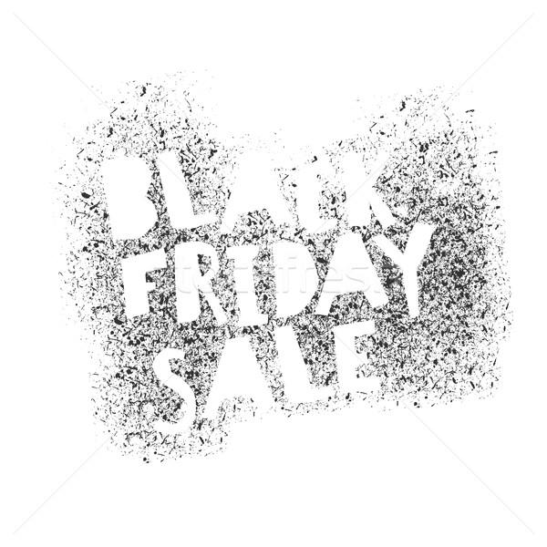 Black Friday Graffiti isolated Typography Stock photo © pashabo
