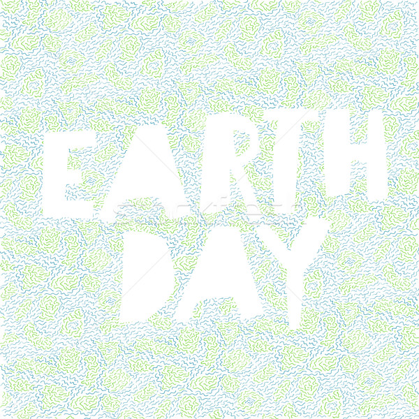 Earth day ecology poster. Green and blue abstract background and Stock photo © pashabo