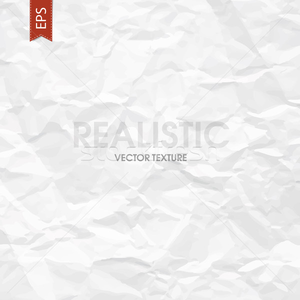 Crumpled paper texture. Vector Stock photo © pashabo