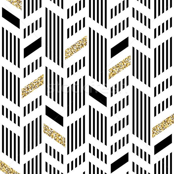 Seamless chevron pattern art deco abstract background glitteri stock photo stock vector illustration seamless chevron pattern art deco abstract background glittering gold foil voltagebd Images