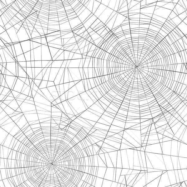 Halloween seamless pattern. Spider web background. Stock photo © pashabo