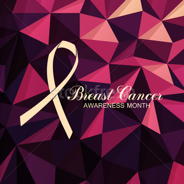 Ribbon of Breast Cancer on abstract pink background. Stock photo © pashabo