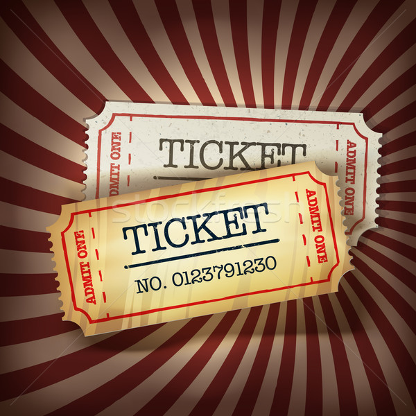 Golden and regular tickets concept illustration. Vector, EPS10 Stock photo © pashabo