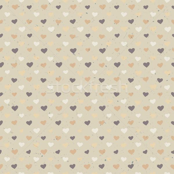 Foto stock: Sin · costura · corazones · patrón · textura · del · papel · vector · eps10