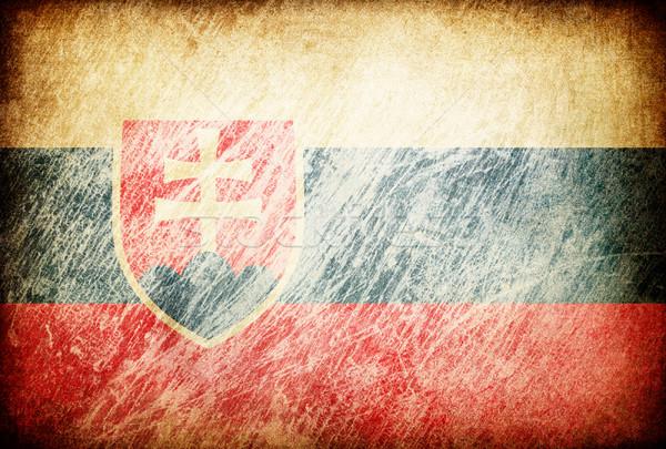 Grunge rubbed flag series of backgrounds. Slovakia. Stock photo © pashabo