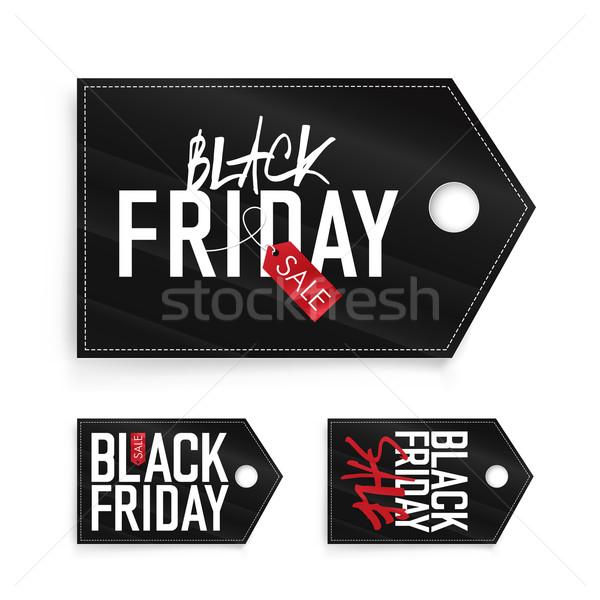 Сток-фото: черная · пятница · продажи · реклама · Label · изолированный