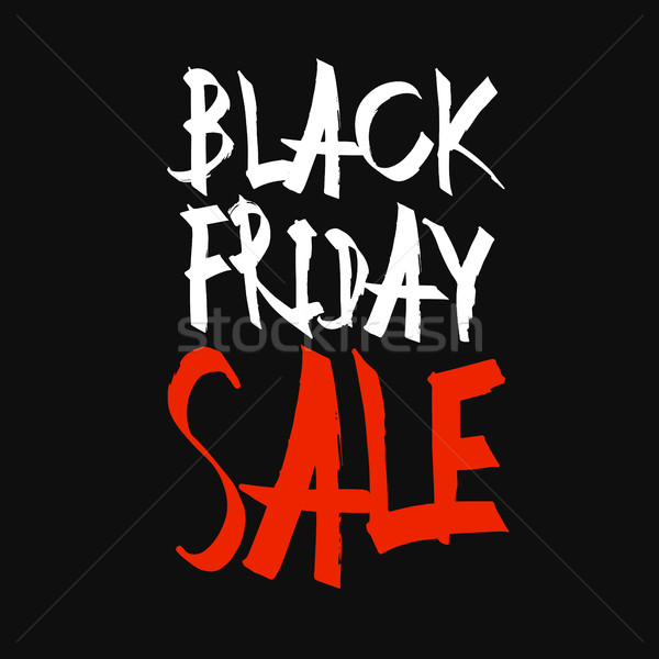 Black friday venda tipografia preto negócio projeto Foto stock © pashabo