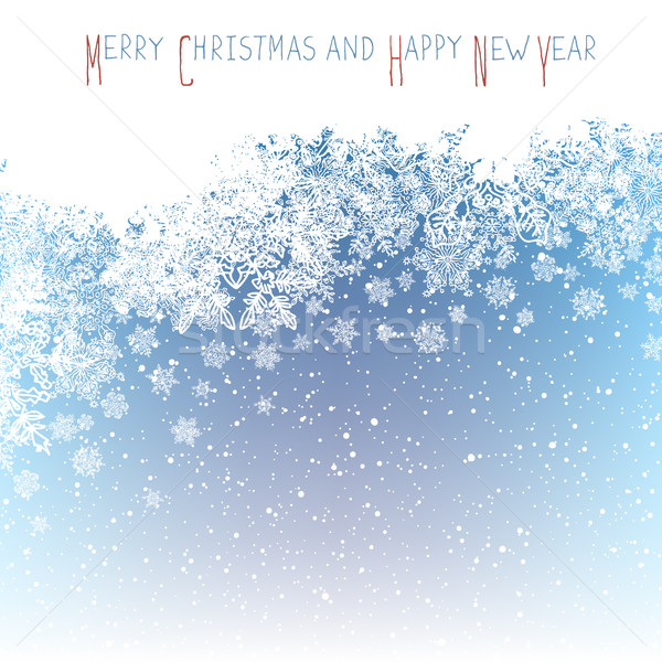 Christmas Postcard. New Year Greeting. Isolated upside area for  Stock photo © pashabo