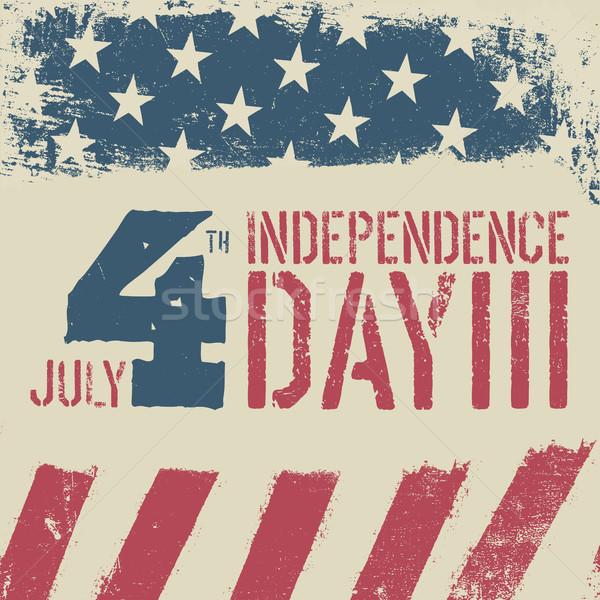 Negyedike nap grunge amerikai zászló hazafias klasszikus Stock fotó © pashabo