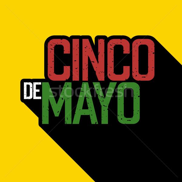 Cinco de Mayo postcard. Typography design. Vector illustration Stock photo © pashabo
