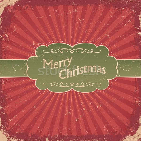 Retro christmas vector eps8 zon ontwerp Stockfoto © pashabo