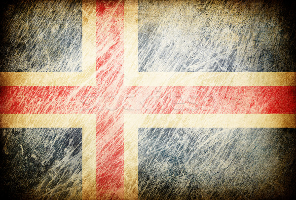 Grunge rubbed flag series of backgrounds. Iceland. Stock photo © pashabo