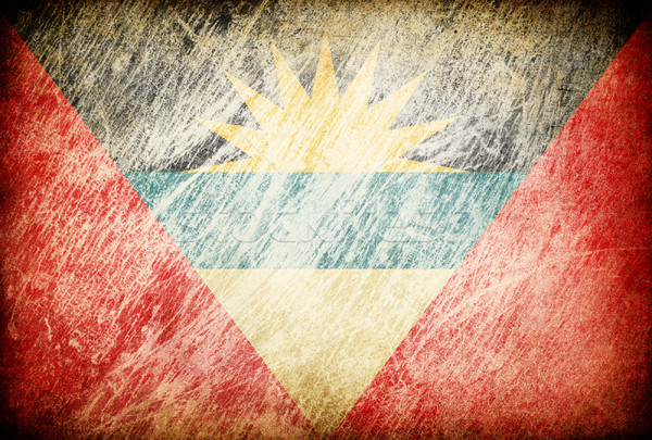 Grunge rubbed flag series of backgrounds. Antigua and Barbuda. Stock photo © pashabo