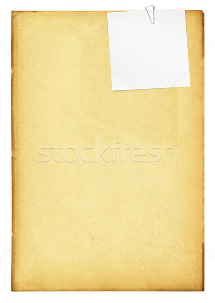 Vintage paper with clip and note. Stock photo © pashabo
