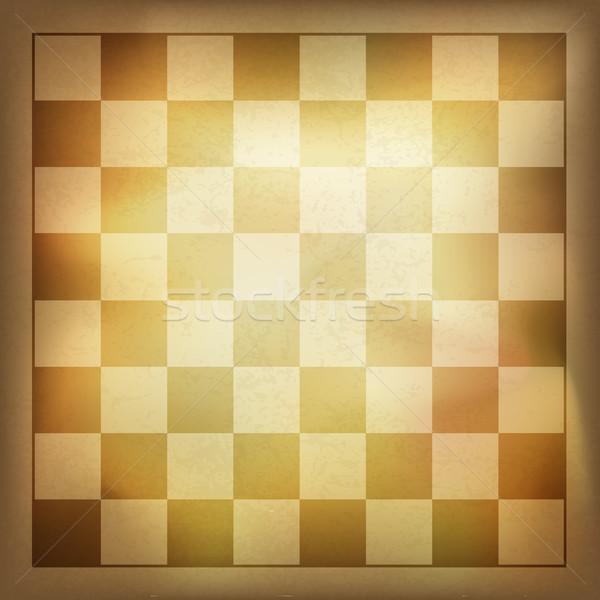 Foto d'archivio: Grunge · vintage · scacchi · vettore · eps10 · vincitore