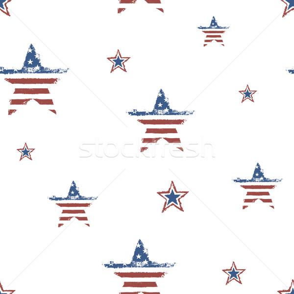 Végtelenített hazafias dísz negyedik ünneplés vektor Stock fotó © pashabo