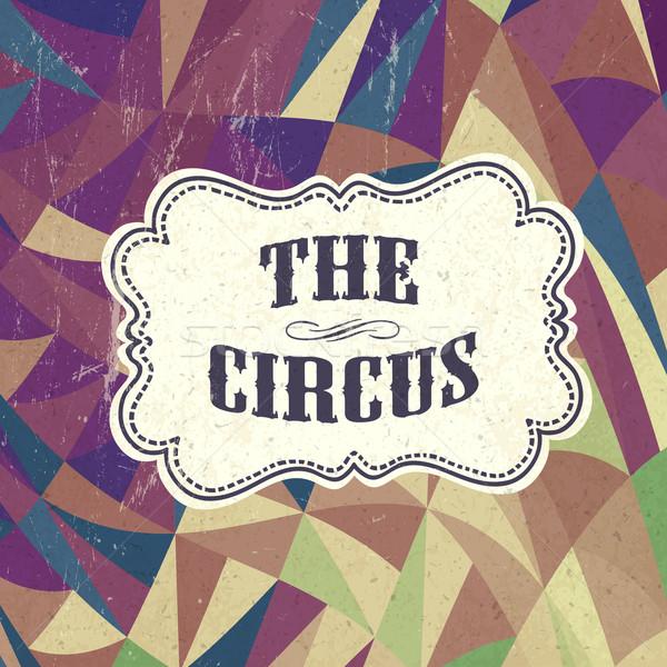 Retro circo vettore carta texture party Foto d'archivio © pashabo