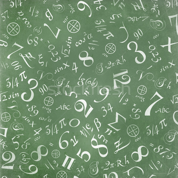 mathematics formulas abstract background (on green chalkboard) Stock photo © pashabo