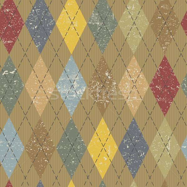 Argyle pattern. Colorful and textured. Grunge vintage background Stock photo © pashabo