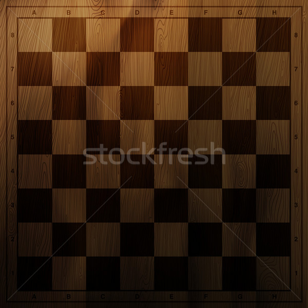 Vintage chess board background. Vector illustration, EPS10 Stock photo © pashabo