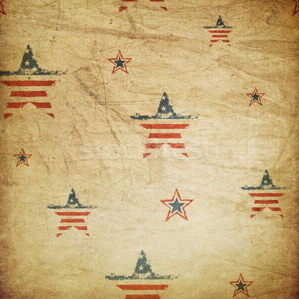 Americano patriottico ornamento texture stelle bandiera Foto d'archivio © pashabo