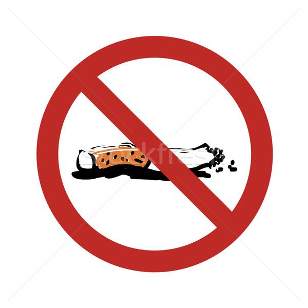 No Smoking Sign Illustration Stock photo © pashabo
