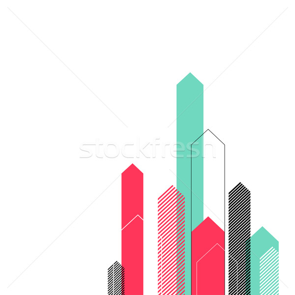 Abstract Background with Stylized Arrows to Up. For Cover Book,  Stock photo © pashabo