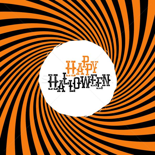 Gelukkig halloween typografie oranje stralen hypnotisch Stockfoto © pashabo