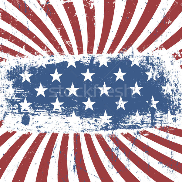 American patriotic vintage background. Vector, EPS10 Stock photo © pashabo