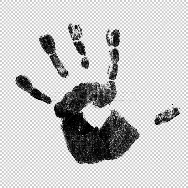 Handprint, vector, isolated. Stock photo © pashabo
