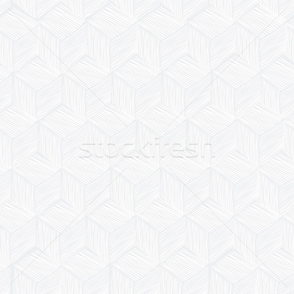 Seamless repeating cubes hand-drawn pattern. Vector Stock photo © pashabo