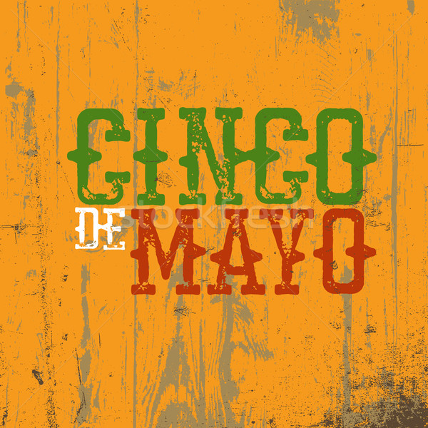 Stock photo: Cinco de Mayo vector illustration. 5 of May holiday vector. Cinc