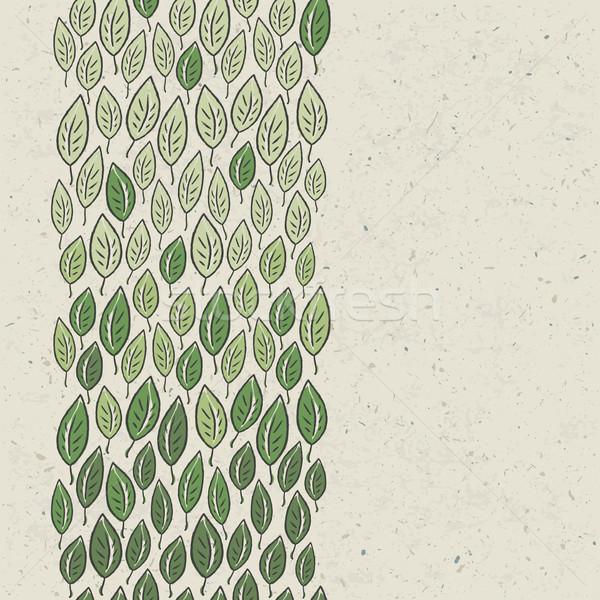 Stockfoto: Groene · bladeren · vector · eps10 · blad · achtergrond · silhouet