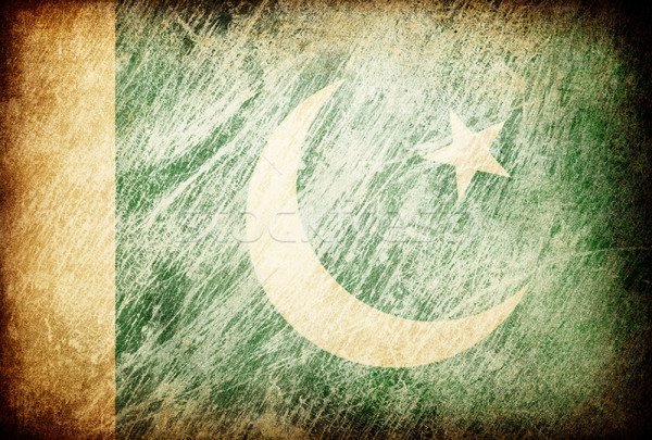 Grunge rubbed flag series of backgrounds. Pakistan. Stock photo © pashabo