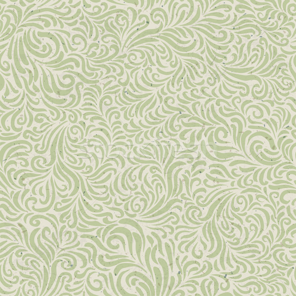 Seamless floral pattern on recycled paper texture. Vector Stock photo © pashabo