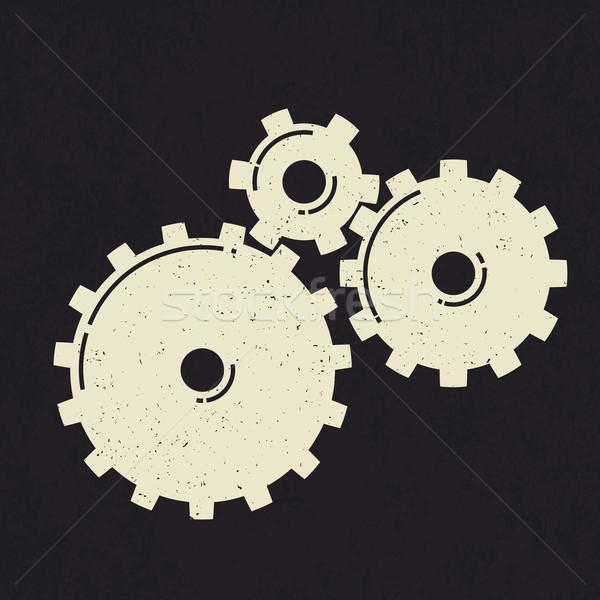 Grunge styled gears. Stock photo © pashabo