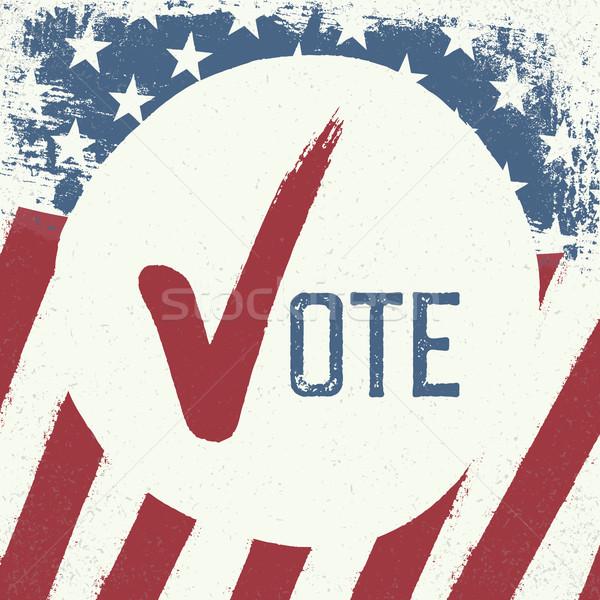 Votação símbolo modelo de design fundo assinar vermelho Foto stock © pashabo