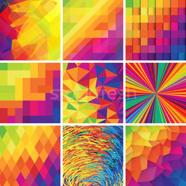 Colorato abstract sfondi vettore set design Foto d'archivio © pashabo