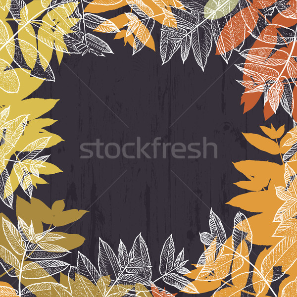 Autumn abstract frame design. With empty space for text. Fallen  Stock photo © pashabo