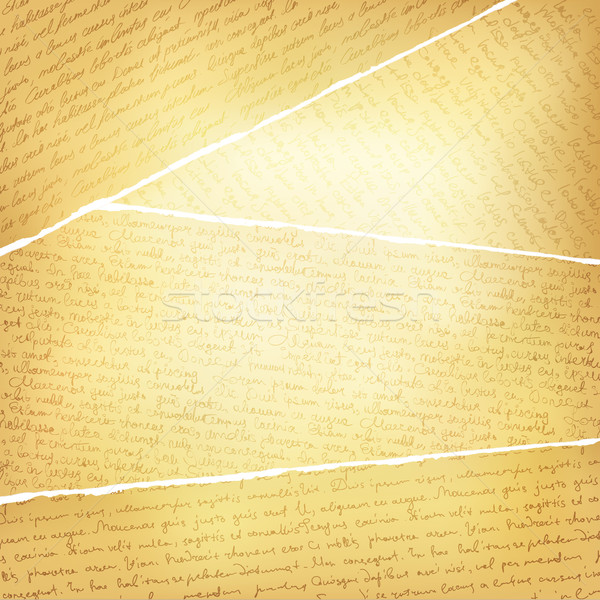 Vintage torn pages background, vector, EPS10 Stock photo © pashabo
