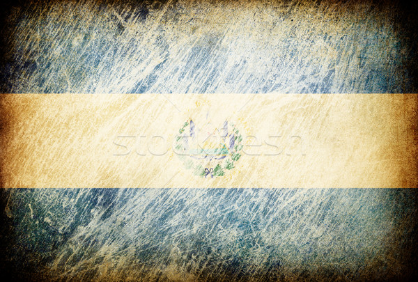 Grunge rubbed flag series of backgrounds. El Salvador. Stock photo © pashabo