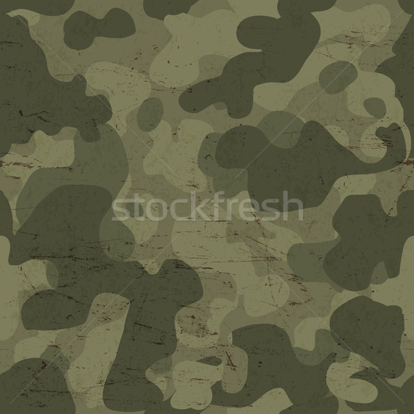 Military camouflage seamless pattern. Vector Stock photo © pashabo