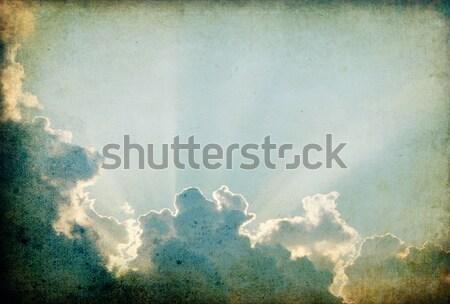 Klasszikus nyugalmas naplemente égbolt retro papír Stock fotó © pashabo