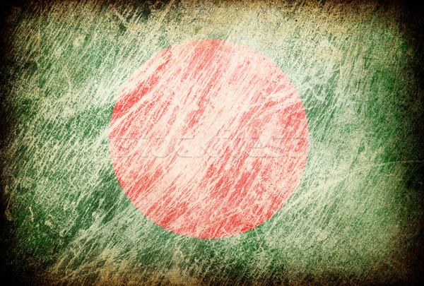 Grunge rubbed flag series of backgrounds. Bangladesh. Stock photo © pashabo