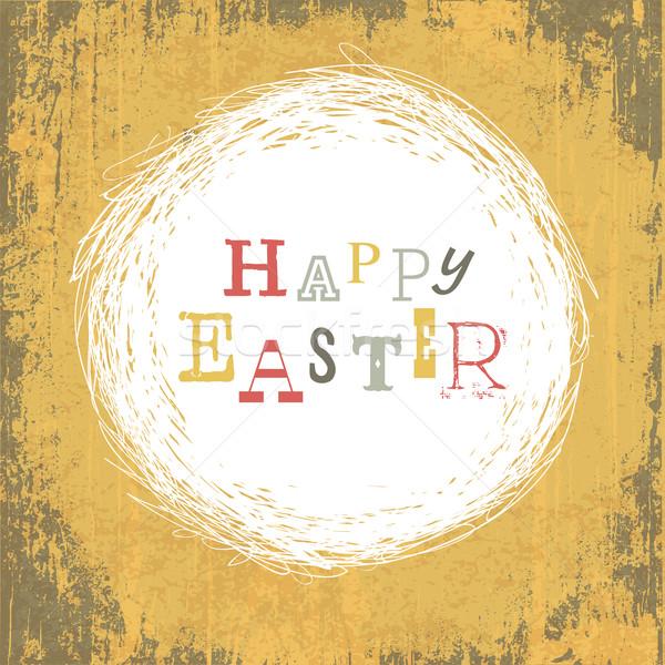 Grungy Vintage Yellow Easter Background Stock photo © pashabo