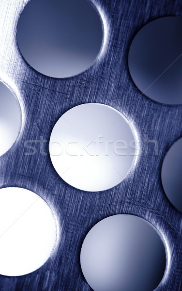Blue Steel. Metal Lattice background. Stock photo © pashabo