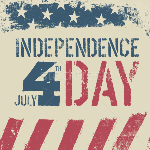 4th July Independence day. Grunge american flag background. Patr Stock photo © pashabo