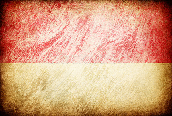 Grunge rubbed flag series of backgrounds. Indonesia. Stock photo © pashabo